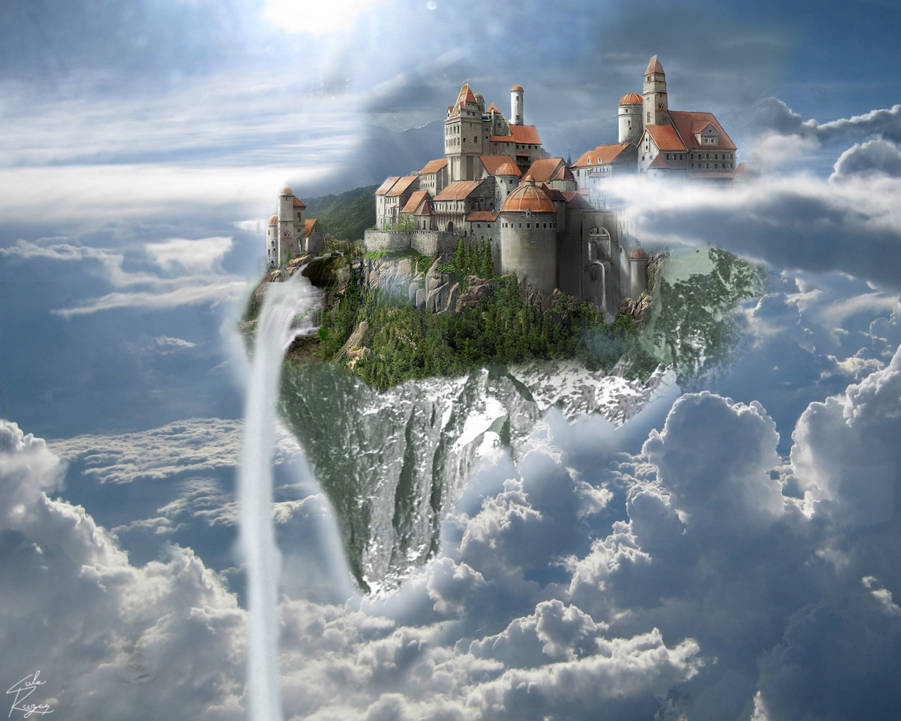 Floating Castle by AnA...