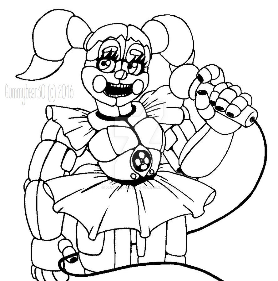 sister location five nights at freddy\'s coloring pages | ~Please, stay in your seats. // FNAF SL: Baby~ by ...
