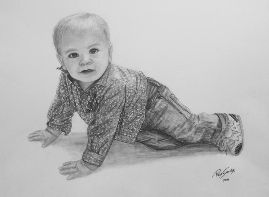 Pencil Drawings Of Babies Baby pencil drawing900 x 662