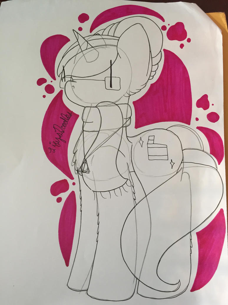 Doodle: Pink Splatters by LifysDoodles