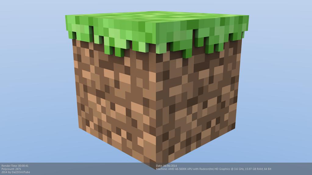 minecraft block 3d