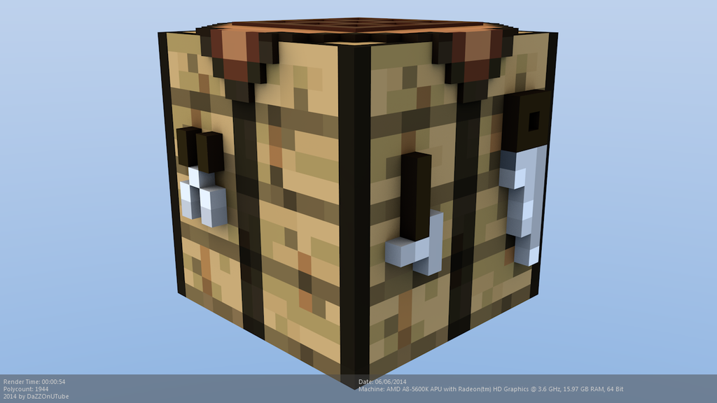 Minecraft crafting table model by craftdanimation on deviantart - Crafting table on minecraft ...