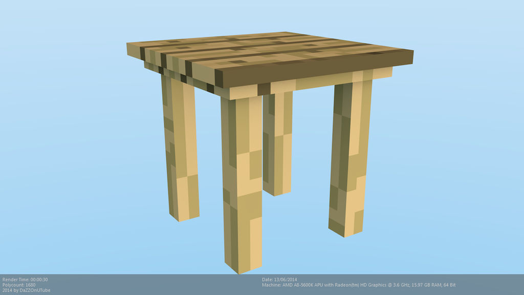 Small Table Minecraft 4