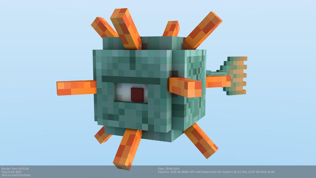 Minecraft Guardian Rig by CraftDAnimation