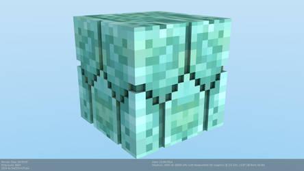 Minecraft Prismarine Brick Model [Snapshot 14w25a] by CraftDAnimation