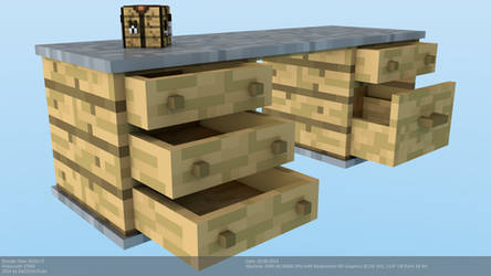 Minecraft Custom Desk Model For C4D