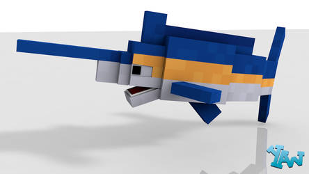Minecraft Marlin Model For C4D