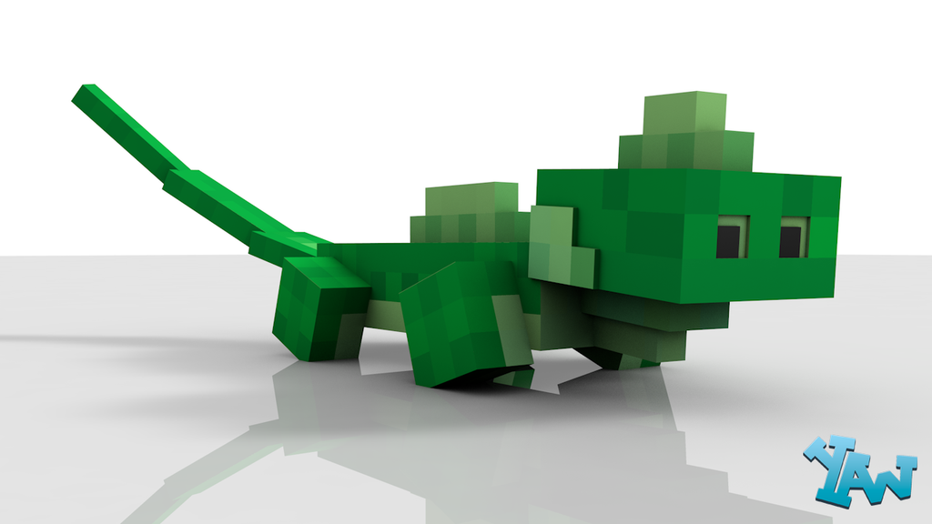 Minecraft Iguana Model For C4D by CraftDAnimation