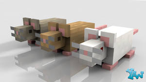 Minecraft Mouse Model by CraftDAnimation