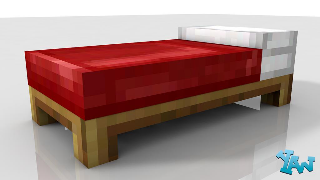Minecraft Bed Model by CraftDAnimation