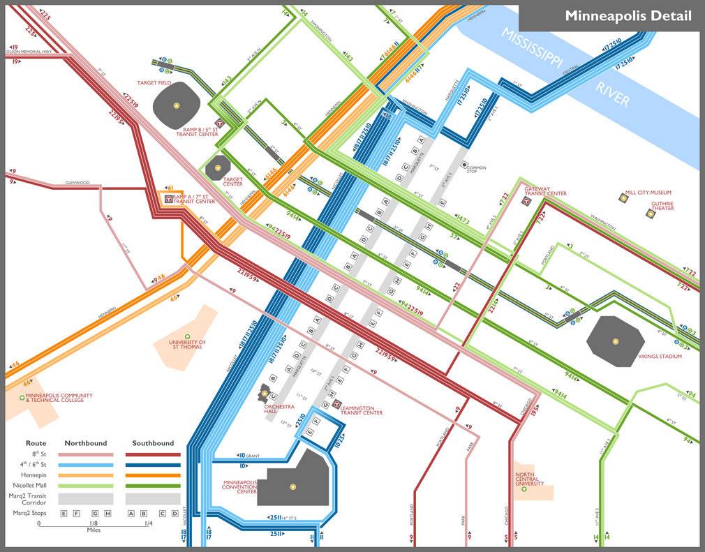 Minneapolis Subway Map.Minneapolis Metro Bus Map By Mike77777 On Deviantart