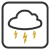 Weather Symbols - Thunderstorm by wuestenbrand
