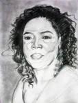 Charcoal sketch- Oprah