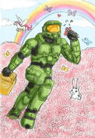Halo-MasterChief-FlowerDream by hierophant