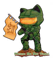 Halo Kitty- XD bad pun by hierophant
