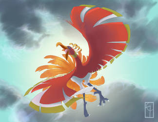 Ho-Oh by CarbonCorvidArt