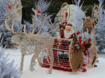 Various 49- illuminated Santa Claus and his sleigh by Momotte2stocks