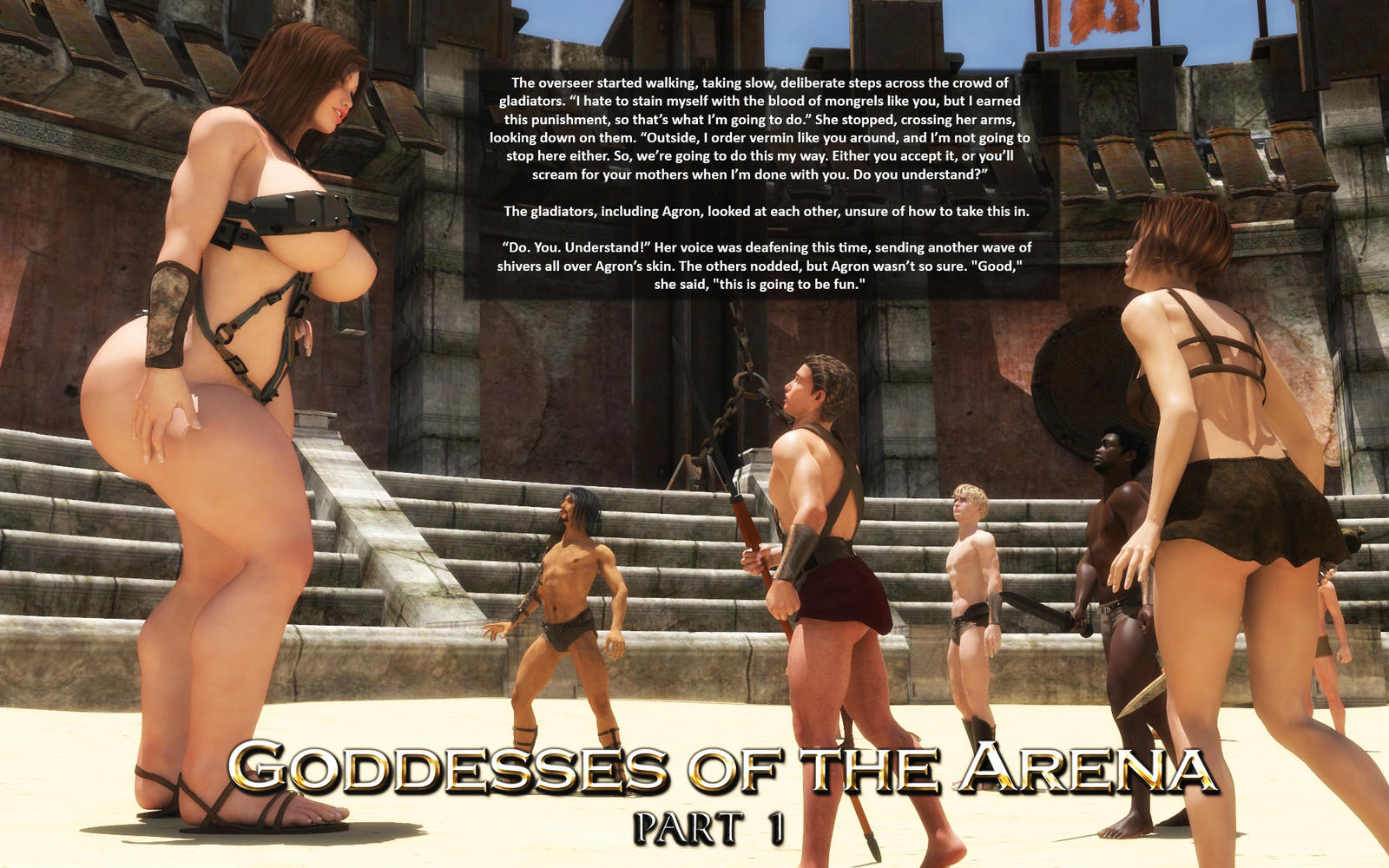 Goddesses of the Arena Preview 1 by RedFireD0g