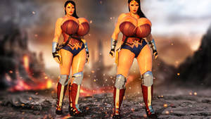 Wonder Woman - Breast Expansion by RedFireD0g