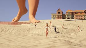 Kaylee 9 beach giantess comic preview