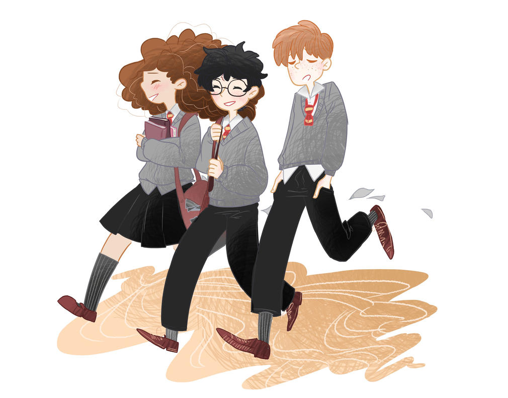 Golden Trio by red-X-snow