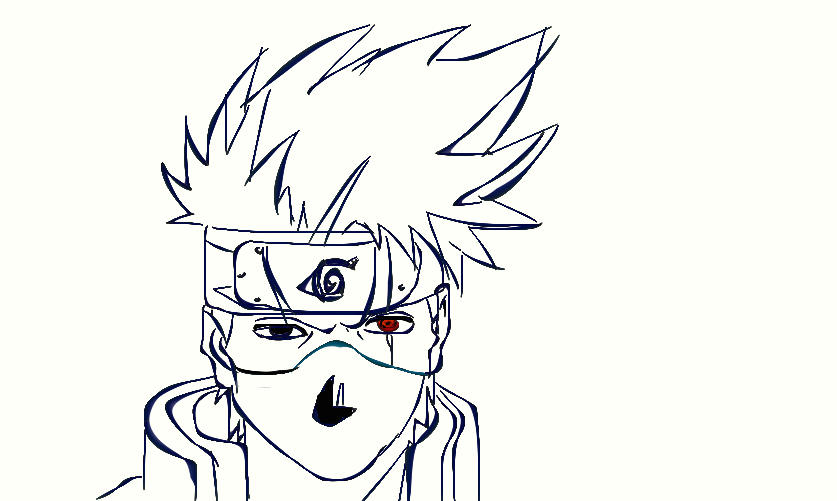 Drawing Line Xcode : Kakashi line drawing by dully on deviantart