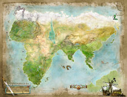 Thurian Map - Hyborian Age of Conan The Barbarian by Vathelos