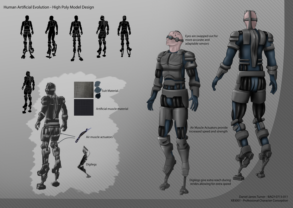 Character Design Art Institute : High poly character design sheet by djt uk on deviantart