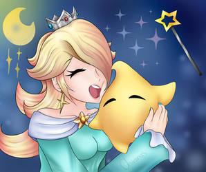 Rosalina and Luma! [Super Mario Galaxy] by ChiranasDraws