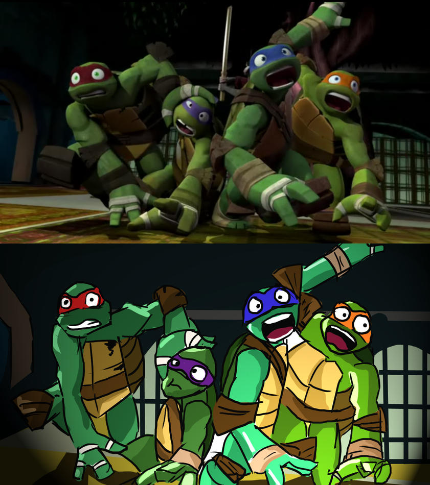 TMNT Screen Cap 2: My Version by singingpterodactyl