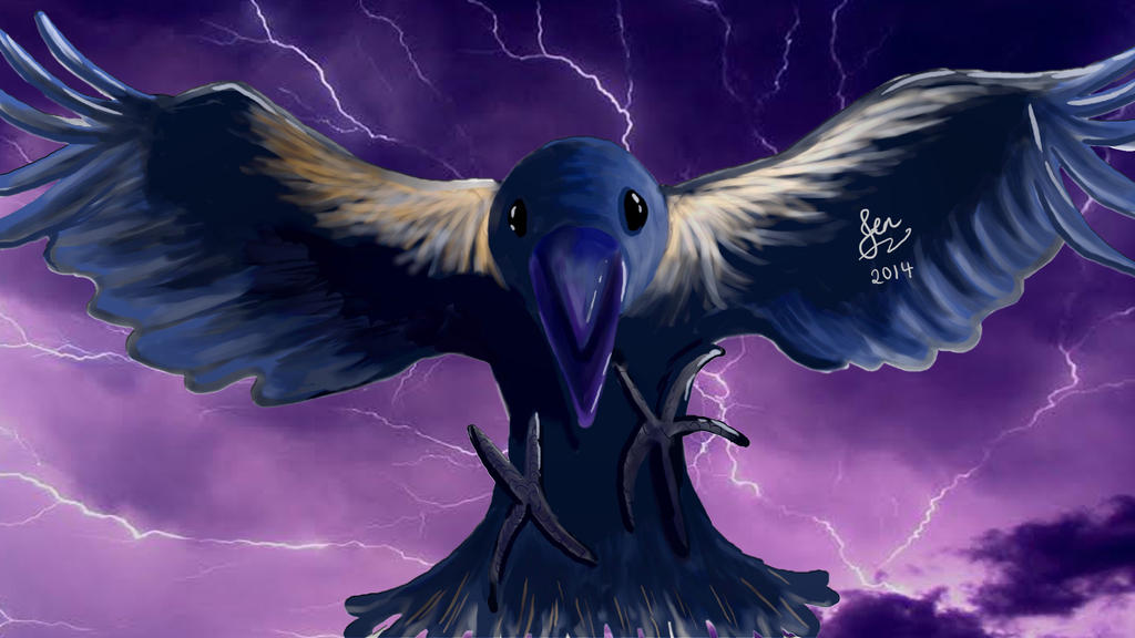 Raven by singingpterodactyl