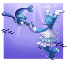 Brionne and Popplio by Phospoop