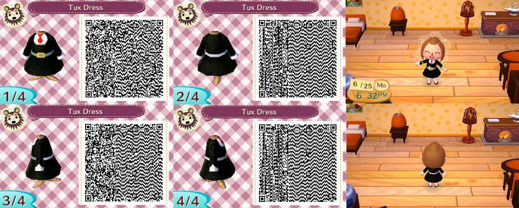 Acnl Tux Dress Qr Code By Georgiathebudgie24 On Deviantart