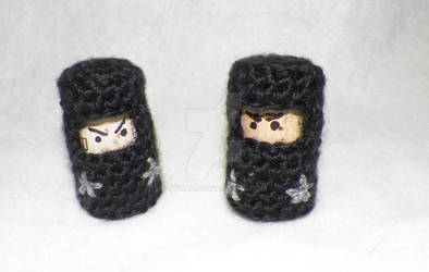 Cork and Crochet Ninjas!