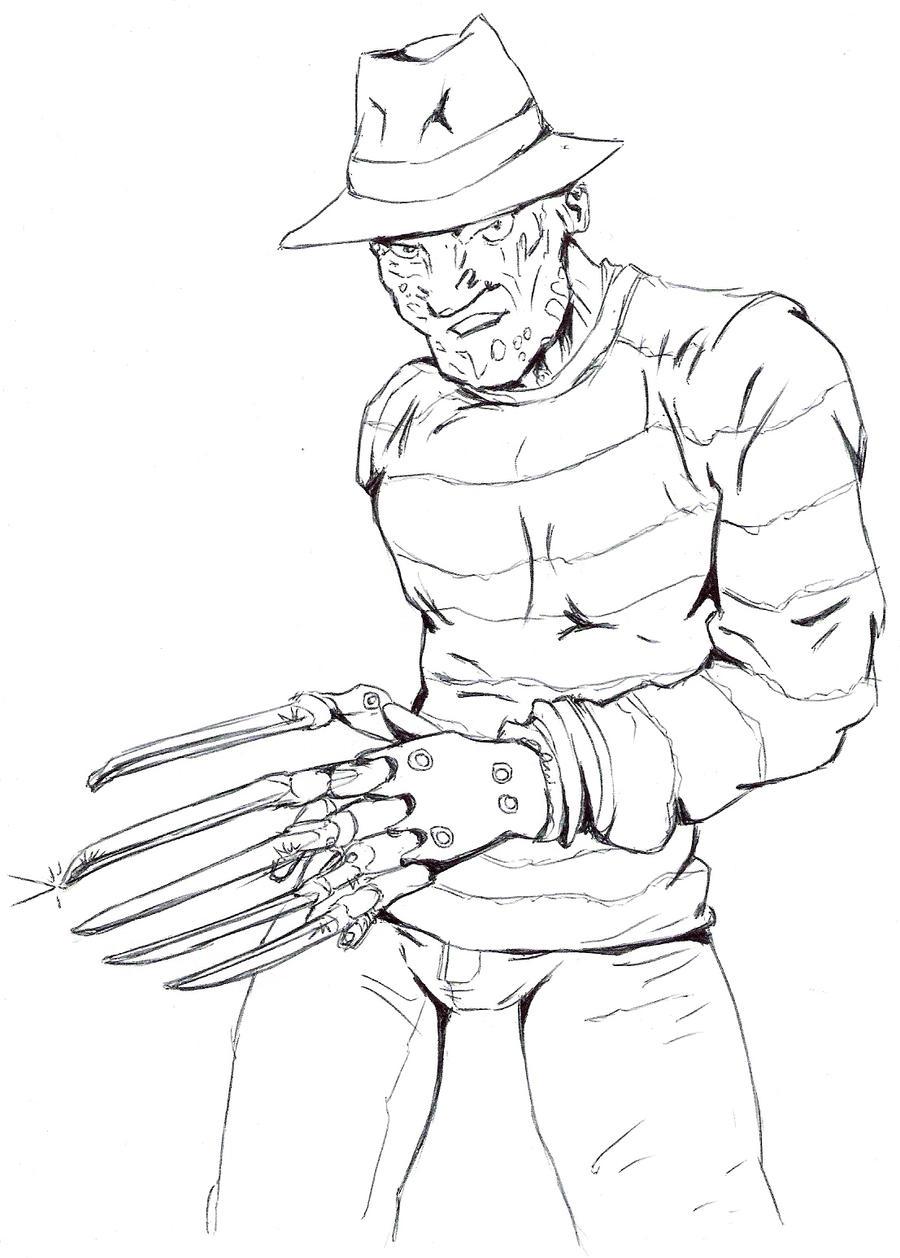 freddy krueger coloring pages - freddy krueger by dani castro on deviantart