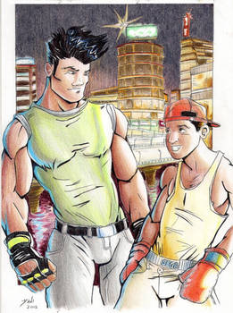 Adam and Skate. Streets of Rage tribute
