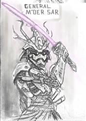 Steel-trooper General M'oer Sar sketch