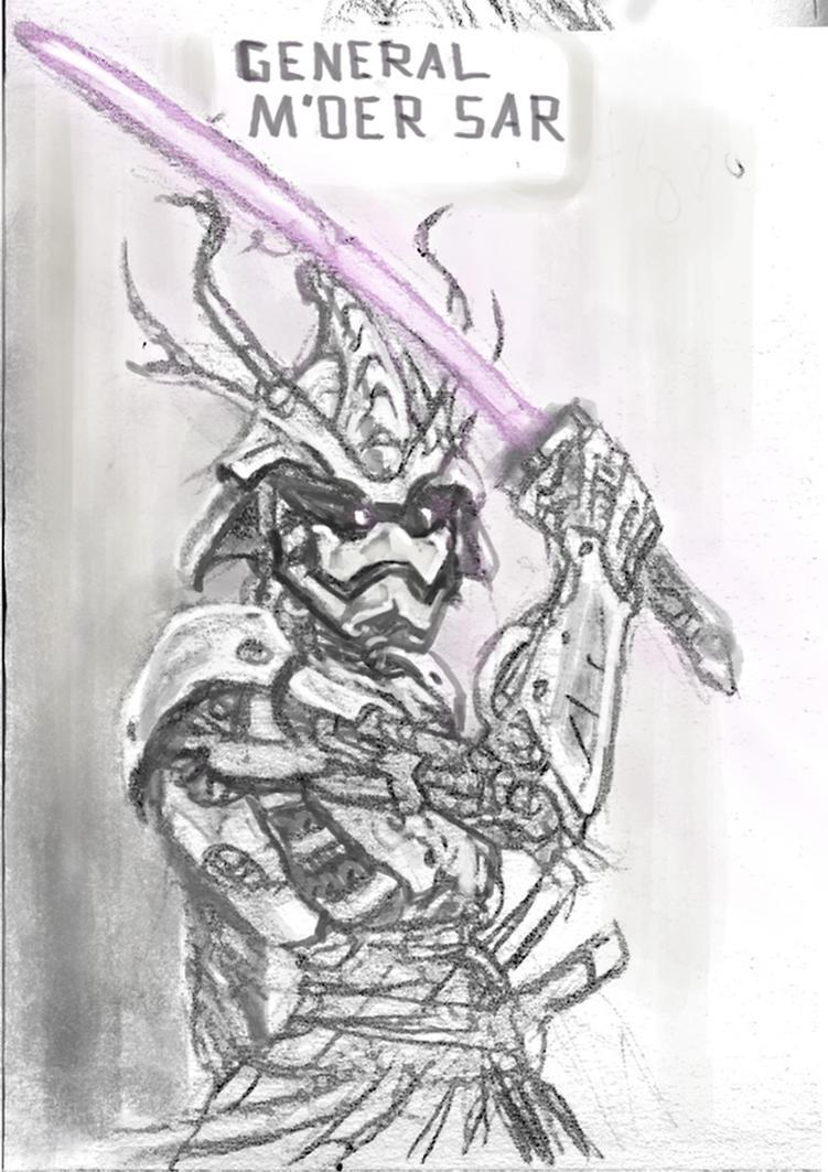 Steel-trooper General M'oer Sar sketch by Tom3k-S