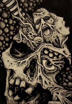 Skull Series #3- Dementia Praecox