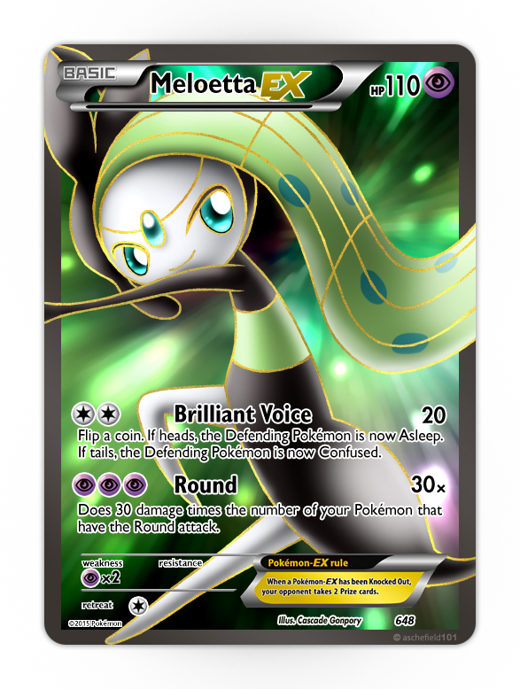 Meloetta Ex Aria By Neo Cscdgnpry On Deviantart
