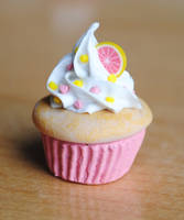 Grapefruit Sunshine CupCake by ClayRunway