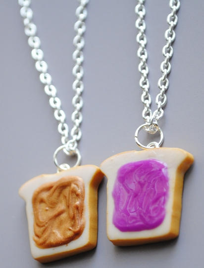 Peanut Butter Jelly Necklaces