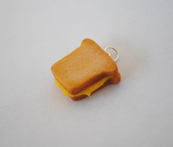 Grilled Cheese Sandwich Charm by ClayRunway