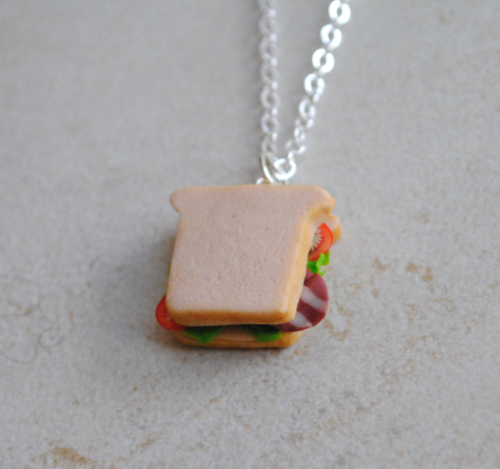 BLT Sandwich Necklace by ClayRunway