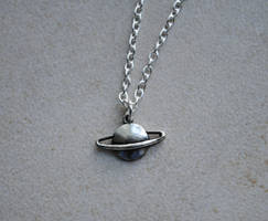 Planet Saturn Necklace