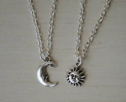 Sun and Moon Neckace Set