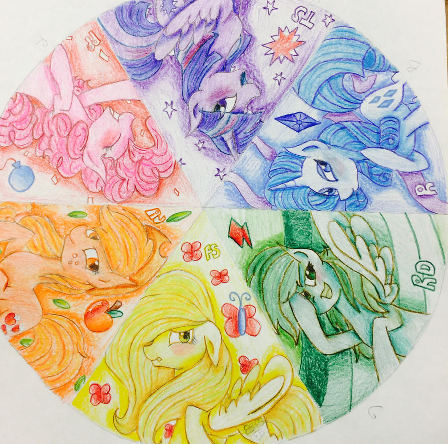 Completed Color Wheel Project By Otiscat123