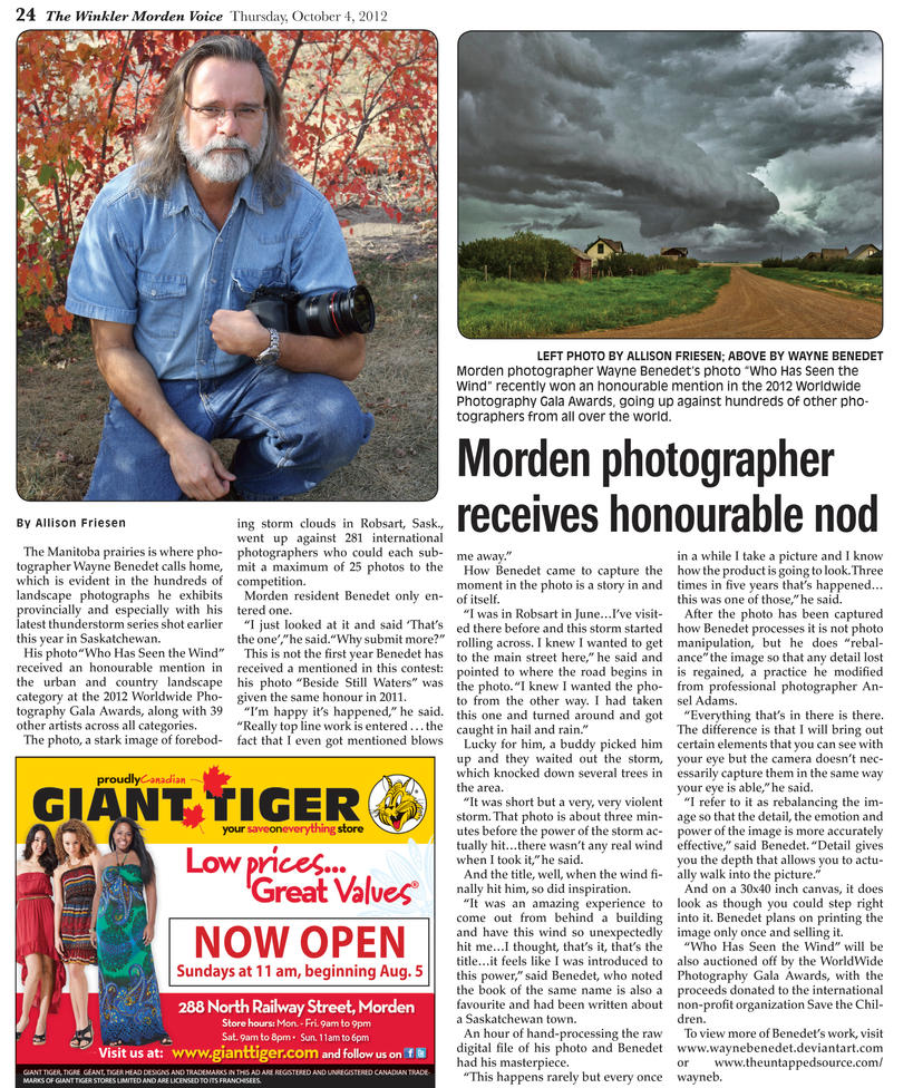 Winkler Morden Voice October 4, 2012 by WayneBenedet