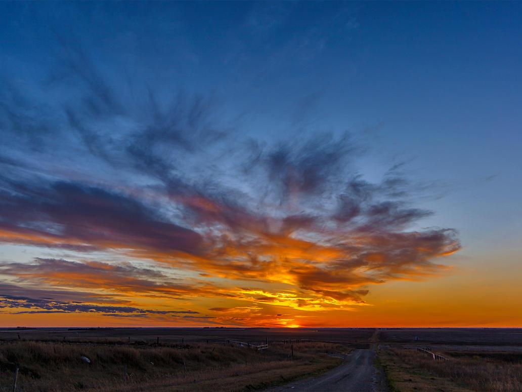 October Sunset From Starmound (5893) by WayneBenedet
