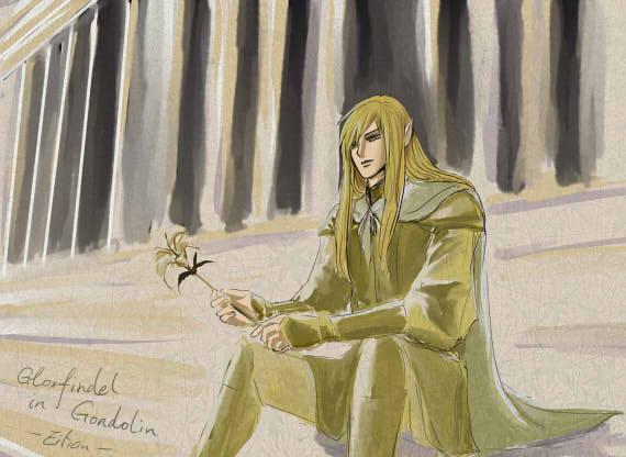 Glorfindel in Gondolin by eilian